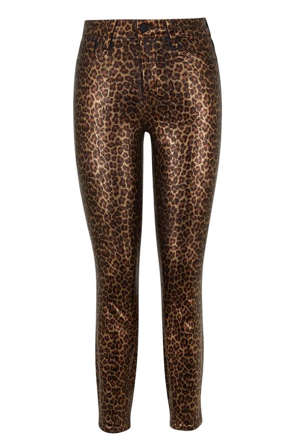 L'Agence Margot Cheetah Printed Foiled High-Rise Jean