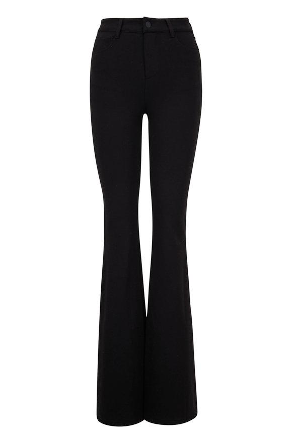 L'Agence Lola Black Flare Five Pocket Pant