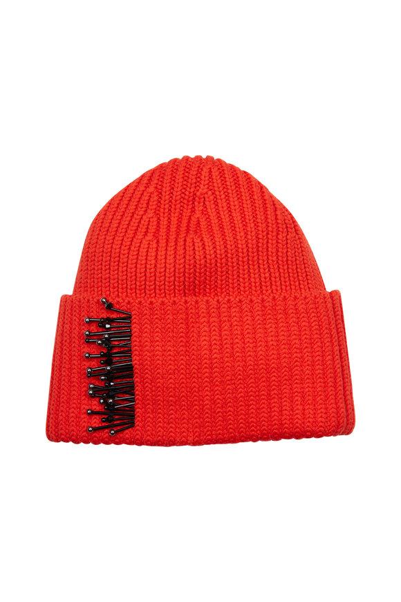 Dorothee Schumacher Orange Wool Beaded Hat