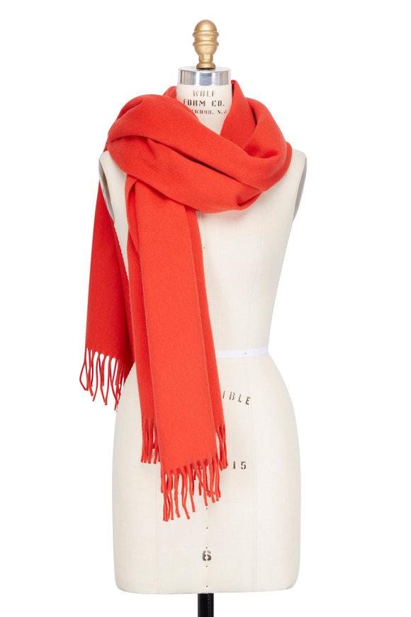 Dorothee Schumacher Orange Wool & Cashmere Scarf