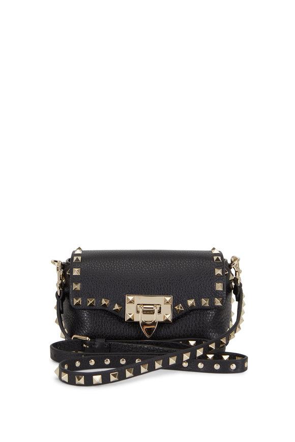 Valentino Garavani Rockstud Black Leather Mini Crossbody Bag
