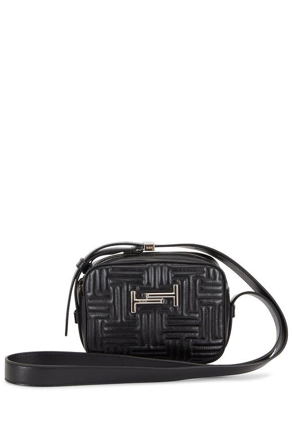 Tod's Double T Black Matelassé Camera Belt Bag
