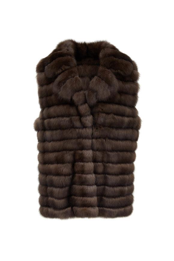 Oscar de la Renta Furs Tip Dyed Sable Vest