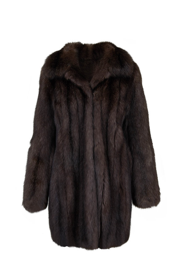 Oscar de la Renta Furs Natural Sable Long Coat