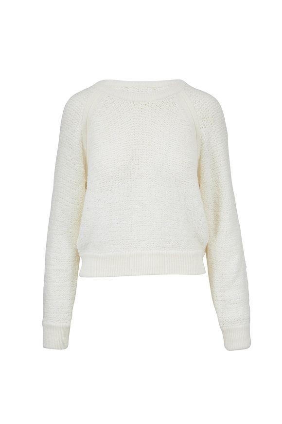 Rag & Bone Brooke Ivory Wool & Cashmere Raglan Sweater