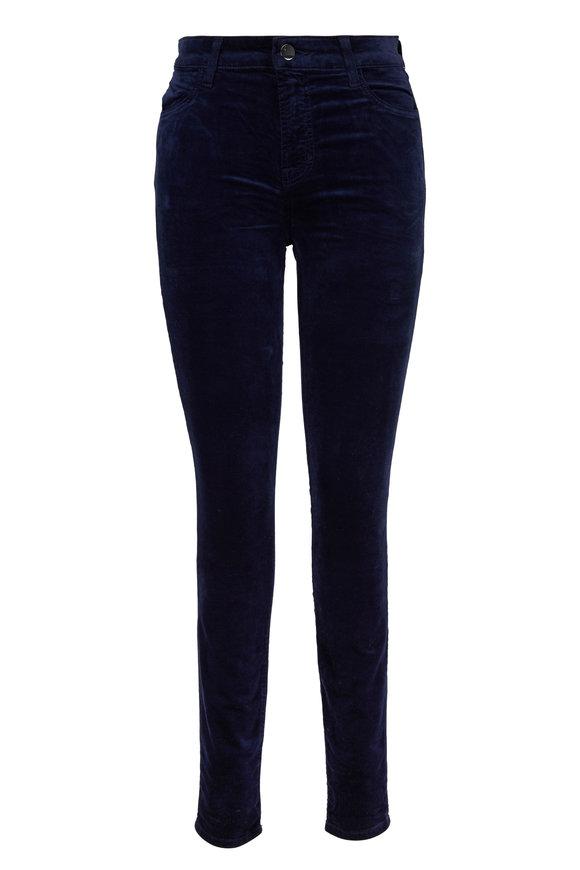 J Brand Maria Velvet High-Rise Skinny Jean