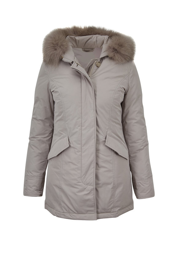 Woolrich Luxury Pearl Fur Trim Arctic Parka