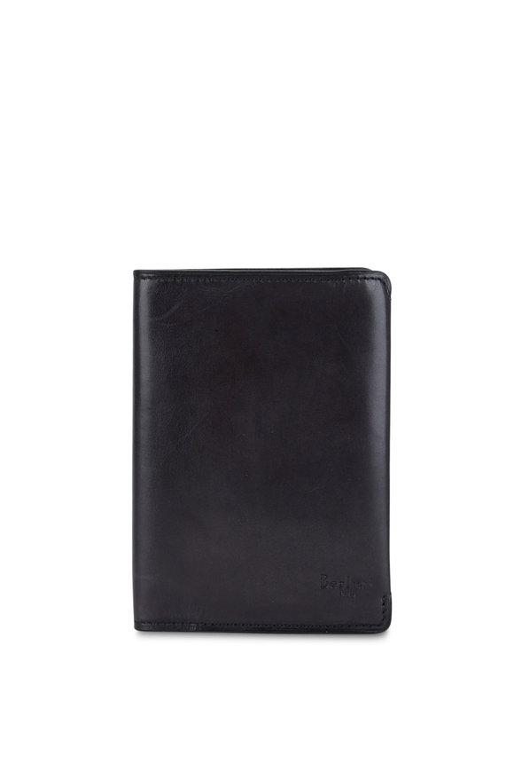 Berluti Escale Black Leather Passport Holder