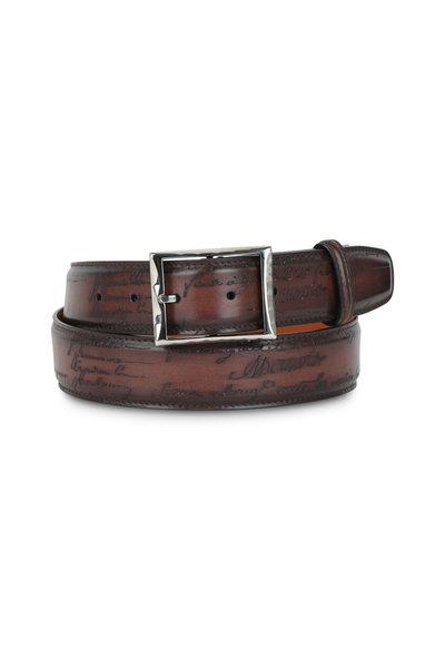 Berluti - Scritto Tobacco Bis Classic Leather Belt
