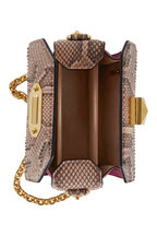 Alexander McQueen - Box Bag Brown & Black Python Chain Bag
