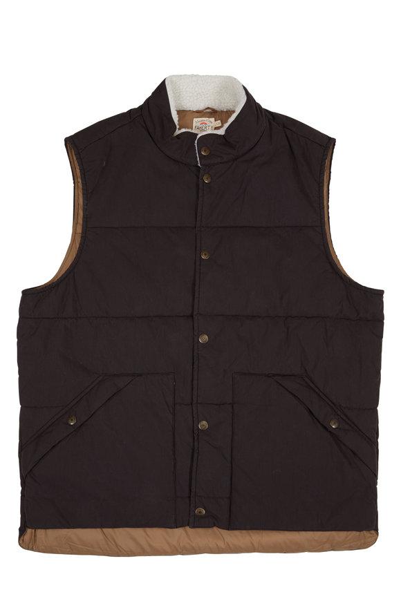 Faherty Brand Frontier Black Vest