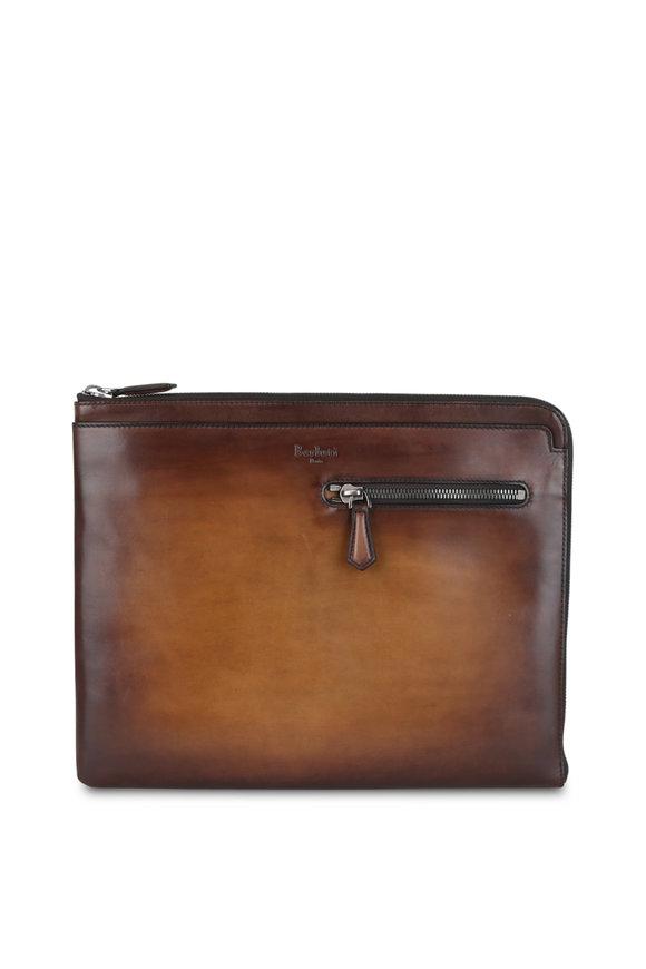 Berluti Au Grand Jour Brown Leather Portfolio