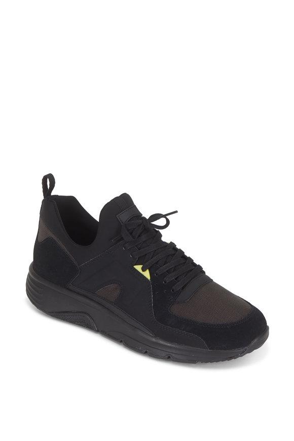Camper  Drift Black Suede & Nylon Runner Sneaker
