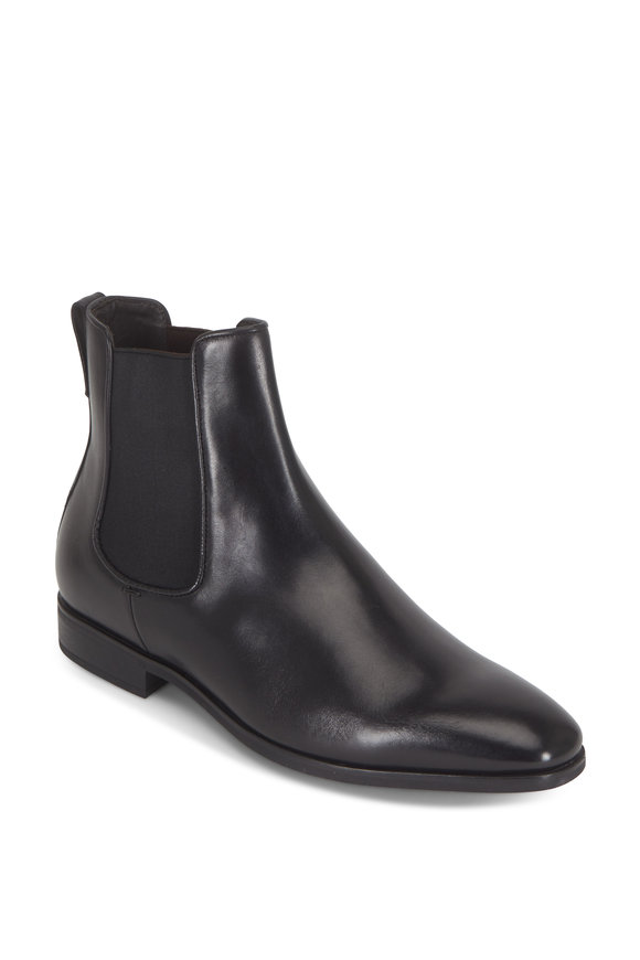 To Boot New York Aldrich Black Rubber Sole Chelsea Boot