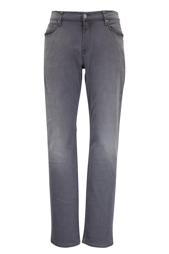 7 For All Mankind Slimmy Luxe Sport Gray Five Pocket Jean Jean