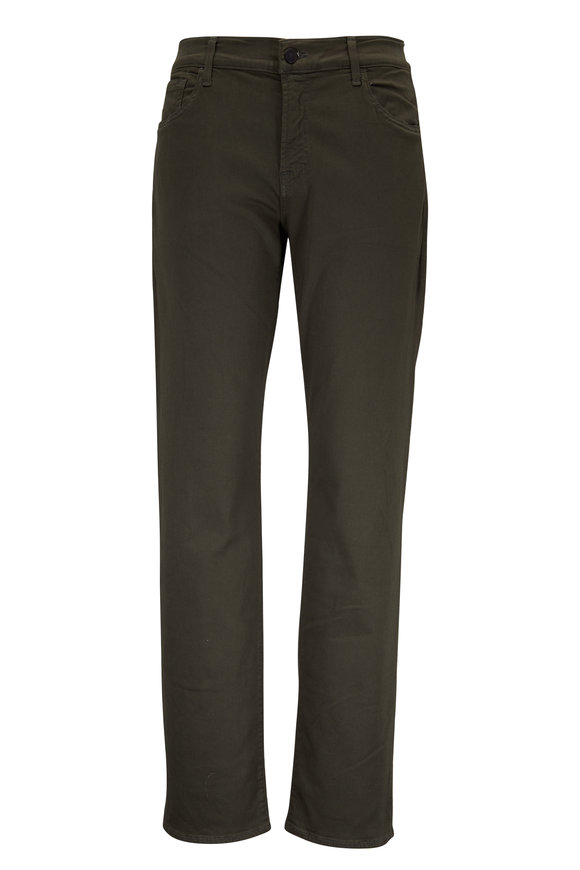 7 For All Mankind Slimmy Luxe Sport Green Five Pocket Jean