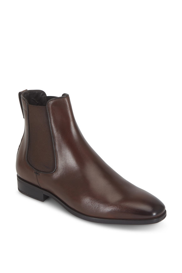 To Boot New York Aldrich Brown Rubber Sole Chelsea Boot