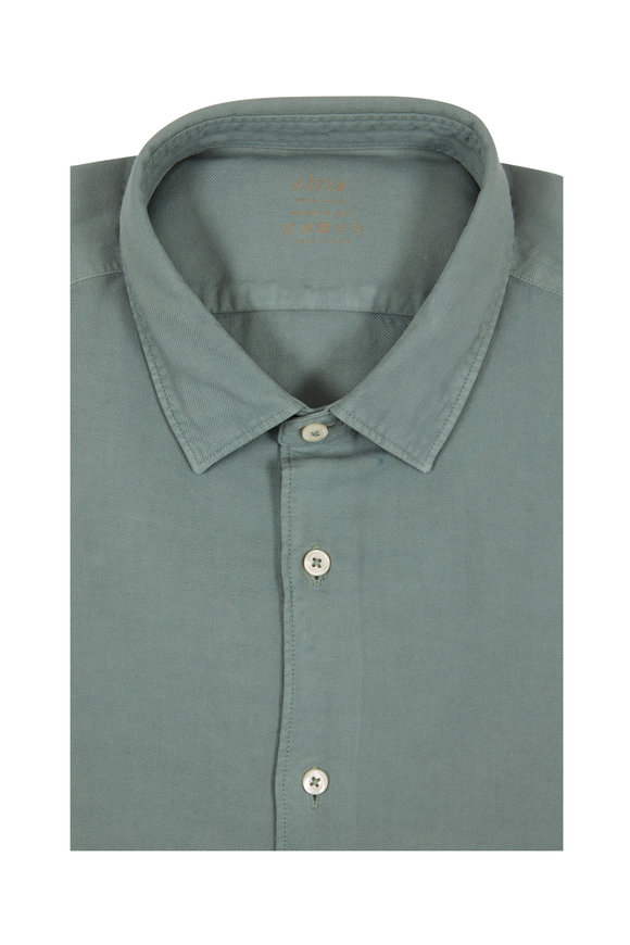Altea Sage Dyed Sport Shirt