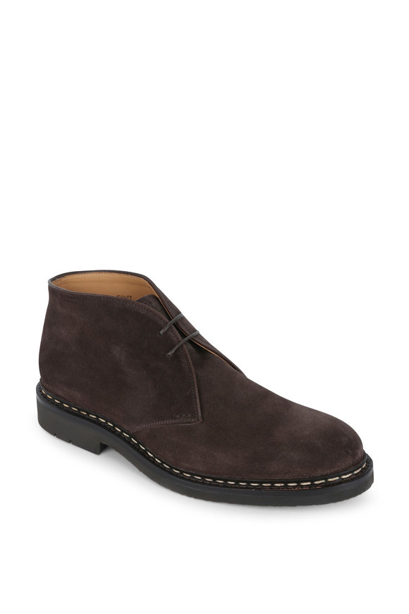 Heschung Genet Dark Brown Suede Desert Boot