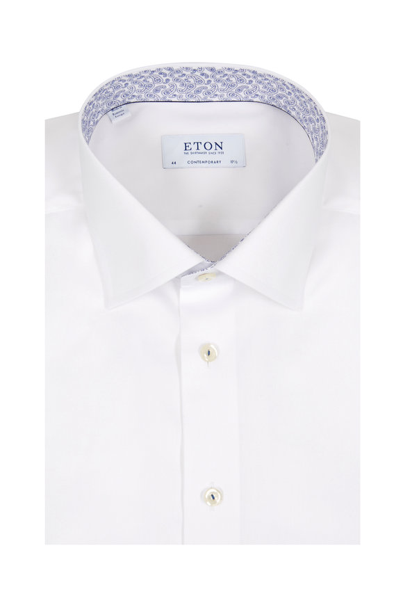 Eton White Contemporary Fit Dress Shirt