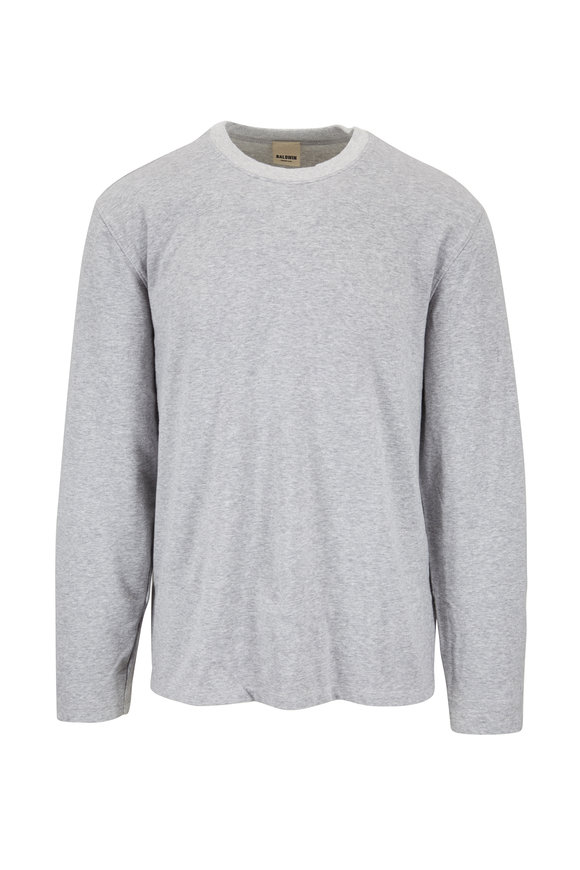 Baldwin Du Bois Heather Gray Crewneck Pullover