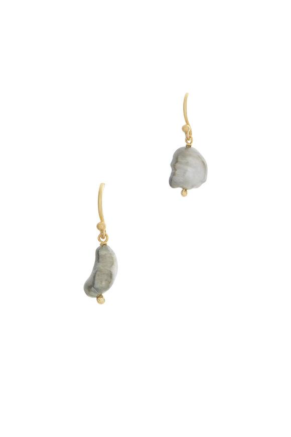 Caroline Ellen South Sea Pearl Drop Earrings