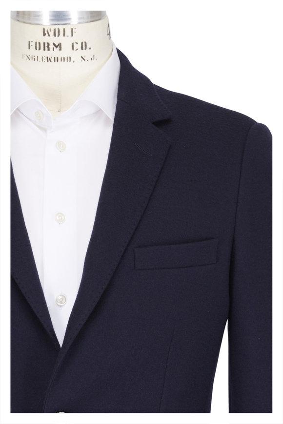 04651/ Navy Blue Wool Jersey Sport Coat