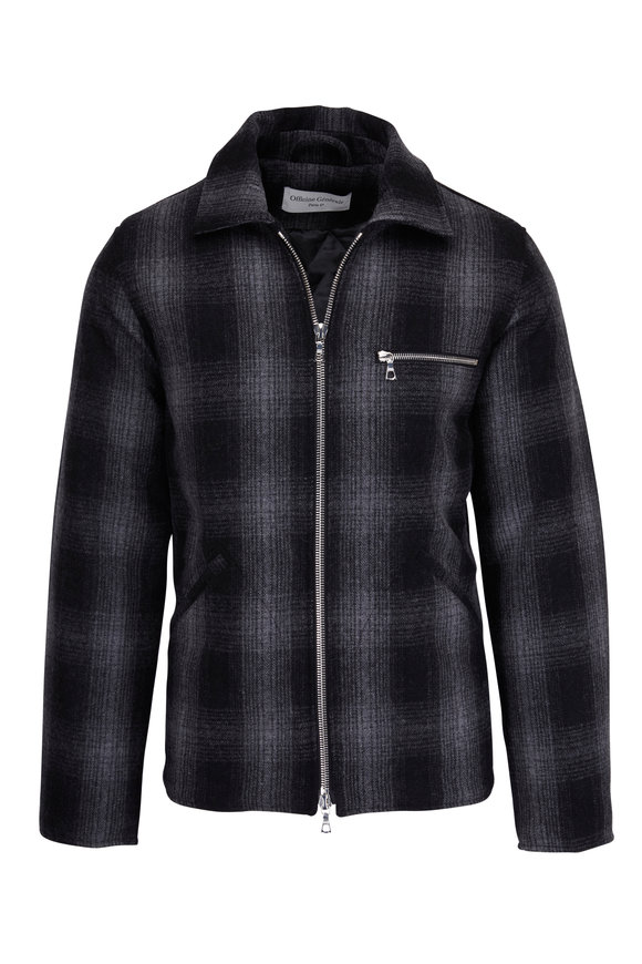 Officine Generale Malcolm Japanese Check Wool Jacket