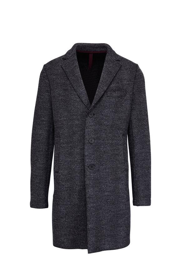 Harris Wharf Grey Wool Herringbone Boxy Coat