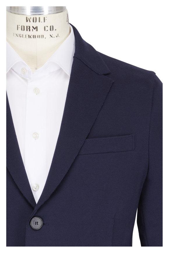 Harris Wharf Navy Blue Piqué Sportcoat