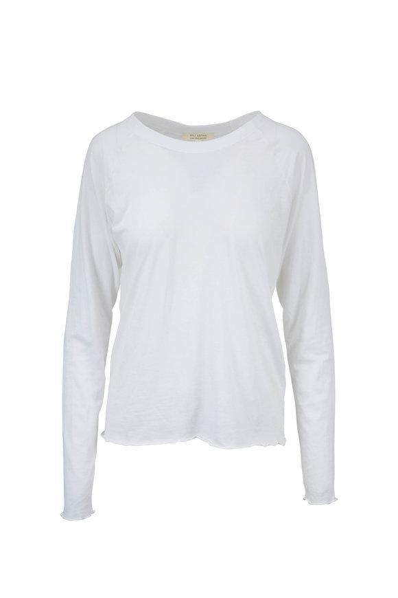 Nili Lotan White Long Sleeve Baseball T-Shirt