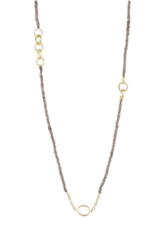 Aaron Henry 18K Yellow Gold Quartz Bead Chain Necklace