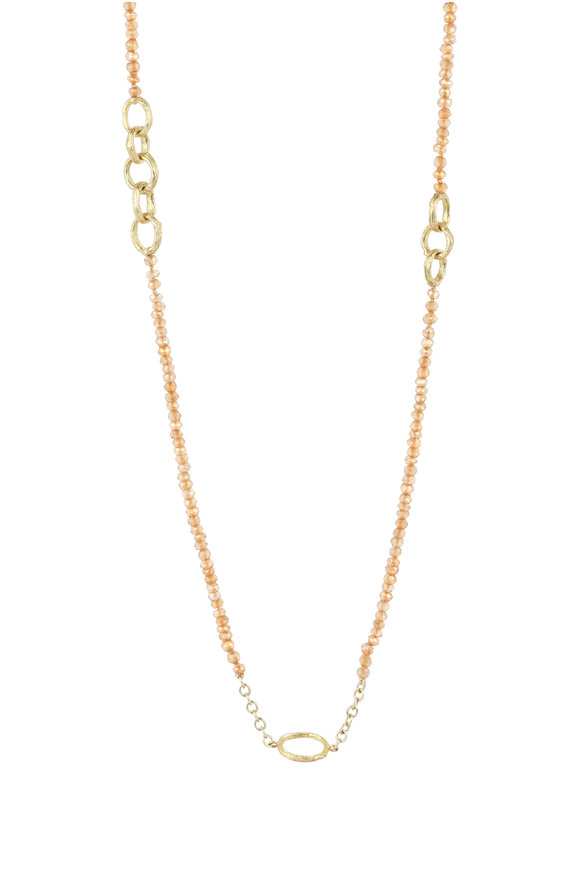 Aaron Henry 18K Yellow Gold Citrine Bead Chain Necklace