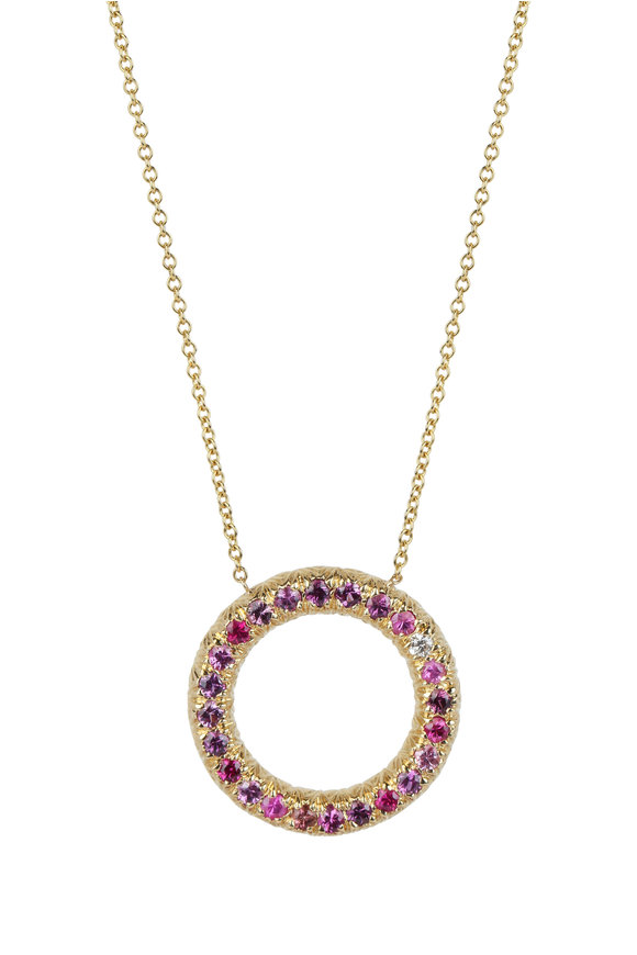 Aaron Henry 18K Yellow Gold Ruby & Pink Sapphire Necklace