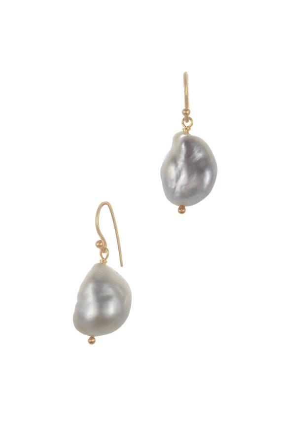 Caroline Ellen Yellow Gold South Sea Pearl Earrings