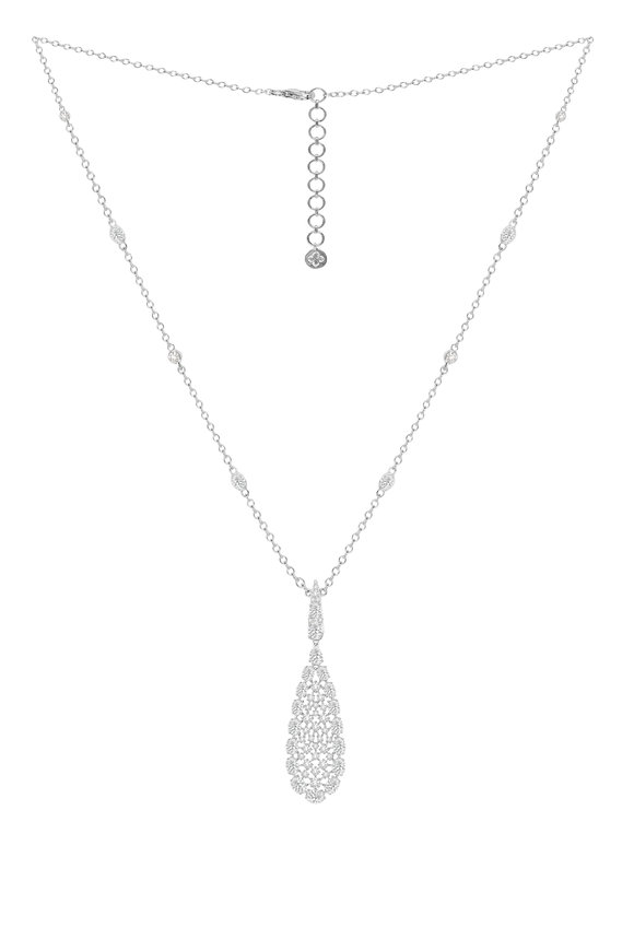 Sutra 18K White Gold Diamond Necklace