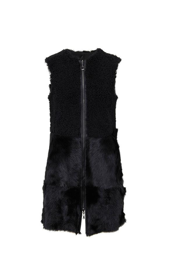 Bogner Rita Black Shearling Reversible Vest