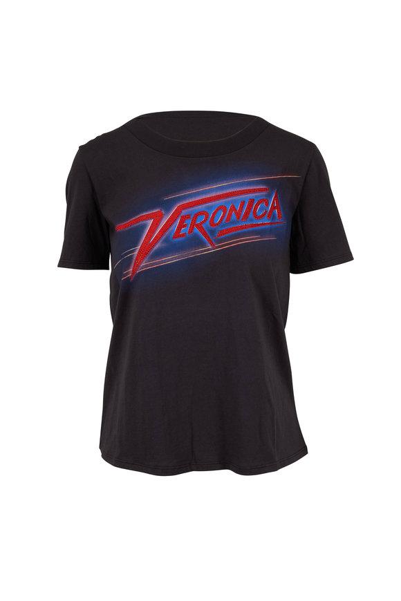 Veronica Beard Veronica Black Graphic T-Shirt