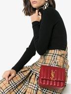 Saint Laurent - Vicky Red Matelassé Small Shoulder Bag