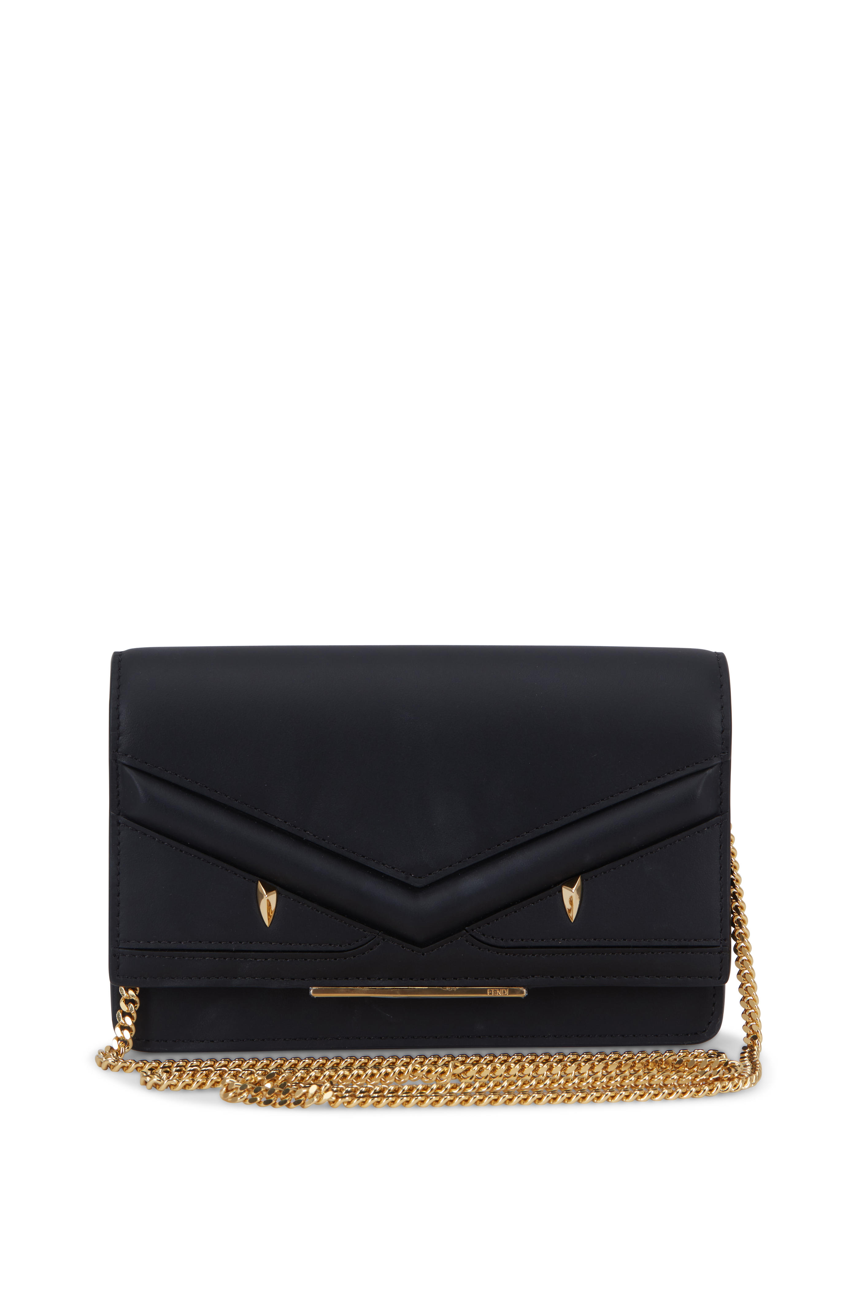 1a569631c0 Fendi - Bag Bugs Black Leather Chain Mini Bag | Mitchell Stores