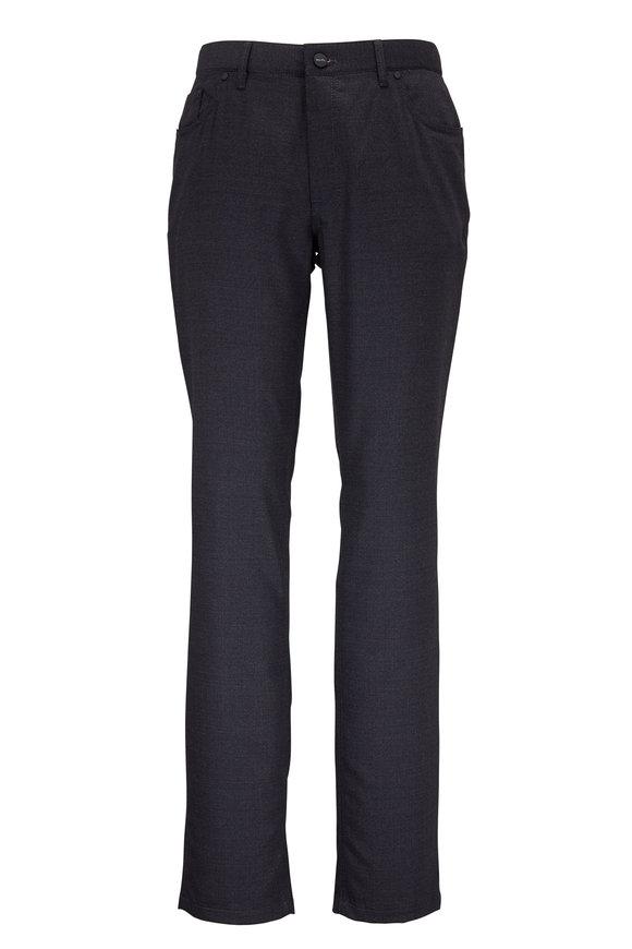 Hiltl Sartorial Gray Micro Pattern Five Pocket Pant