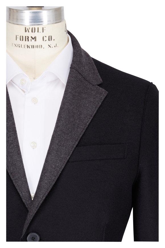 Harris Wharf Black & Grey Wool Blazer