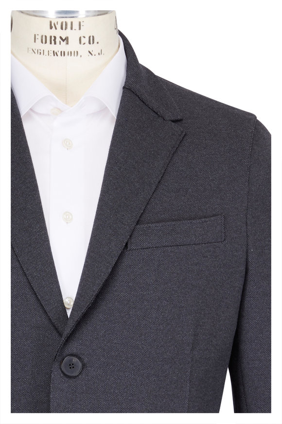 Harris Wharf Anthracite Knit Pique Blazer