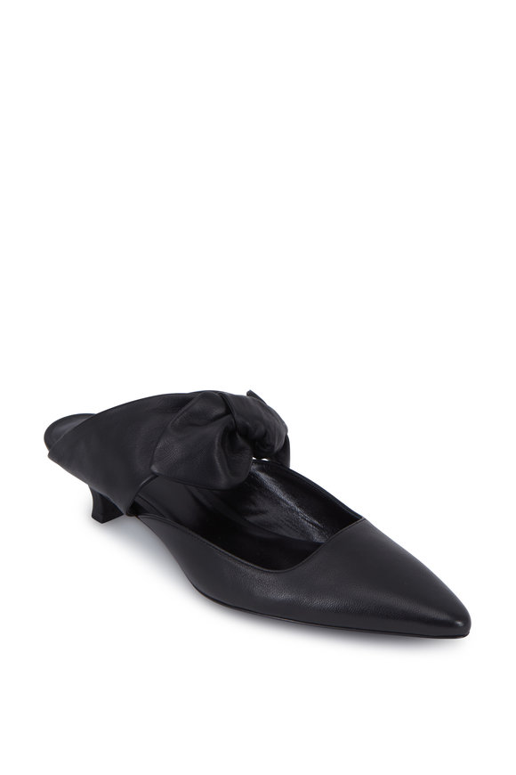 The Row Coco Black Leather Mule, 40mm