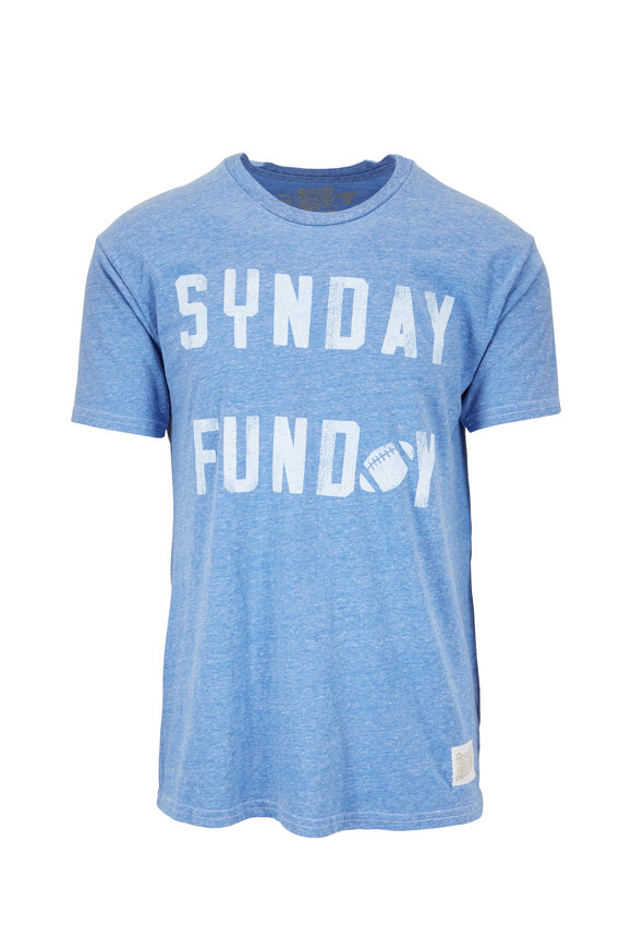 Retro Brand Washed Blue Sunday Funday Graphic T-Shirt