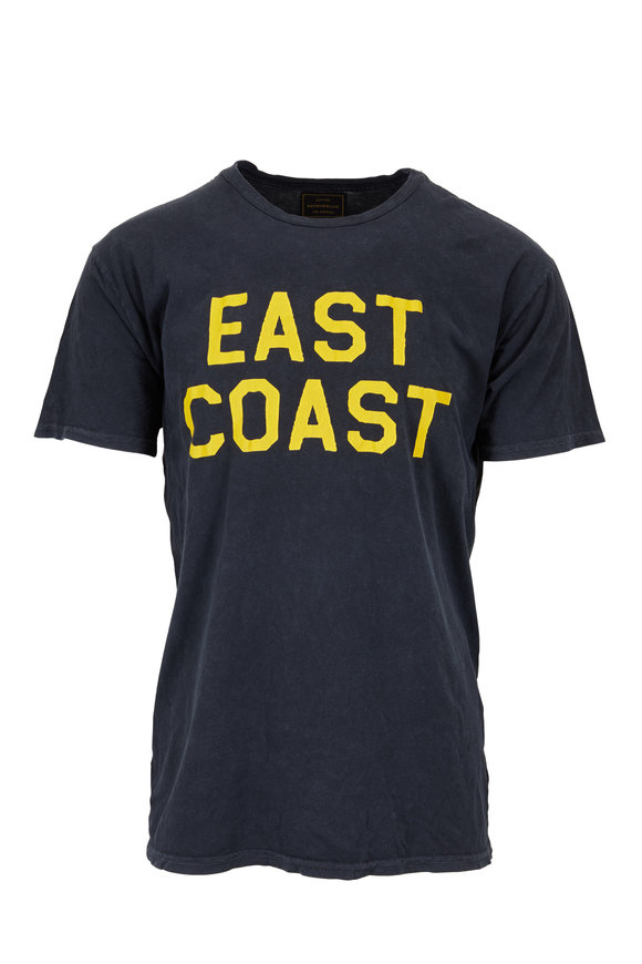 Retro Brand Black East Coast Graphic T-Shirt