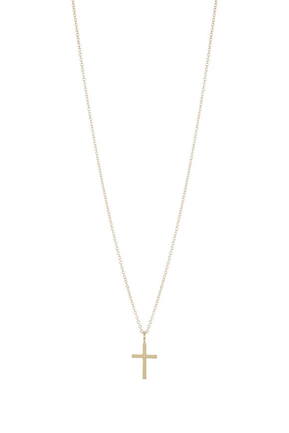 Caroline Ellen 20K Yellow Gold Cross Necklace
