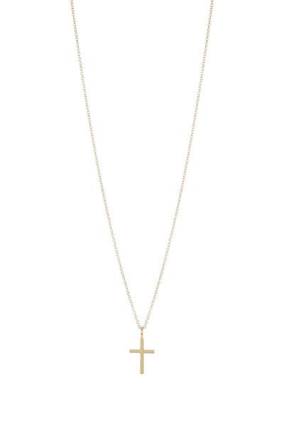 Caroline Ellen - 20K Yellow Gold Cross Necklace