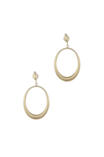 Caroline Ellen - 20K Yellow Gold Hollow Doorknocker Earrings