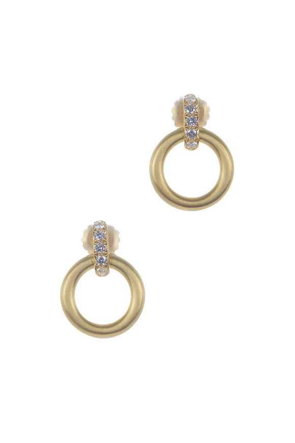 Caroline Ellen 18K Yellow Gold Large Doorknocker Earrings
